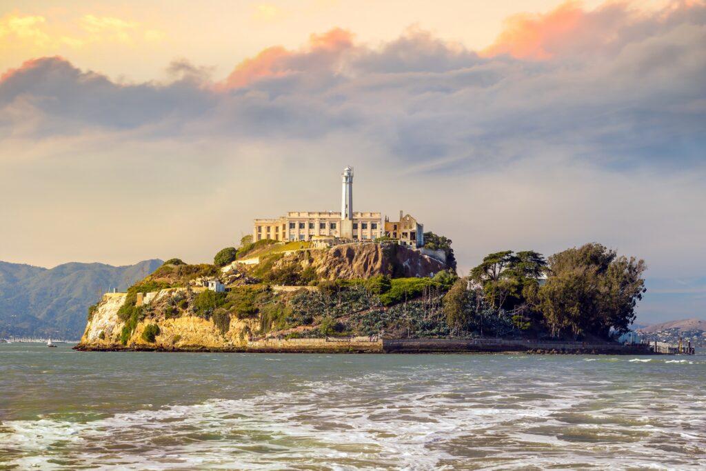Alcatraz Federal Penitentiary in California.