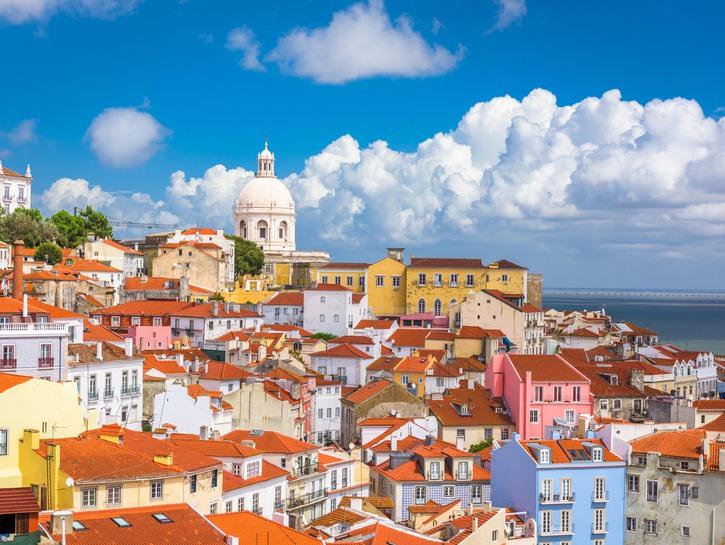 Alfama District in Lisbon, Portugal