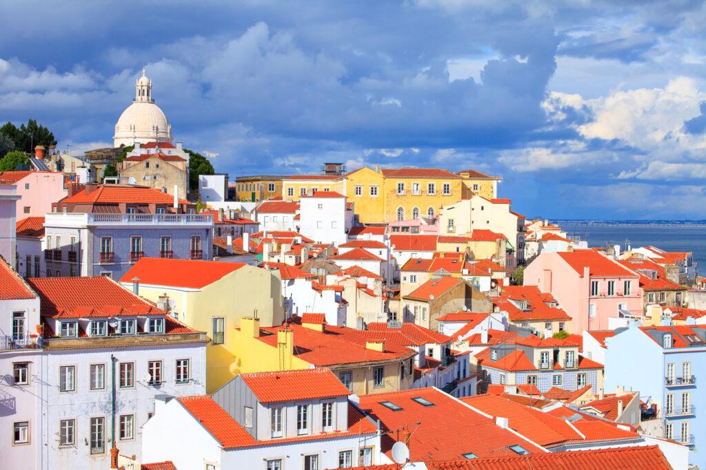Alfama neighborhood in Lisbon, Portugal.