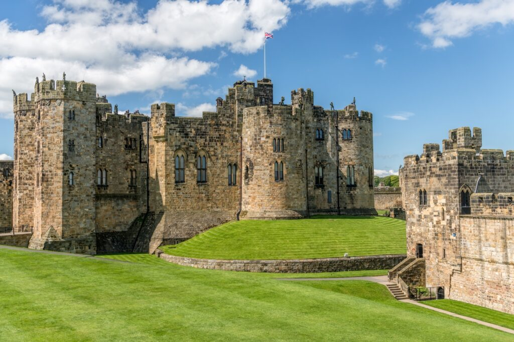Alnwick Castle in England.