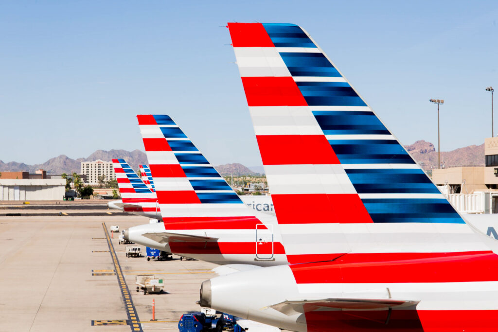 American Airlines planes at an airport.