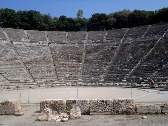 Amphitheater of Epidaurus, Greece.
