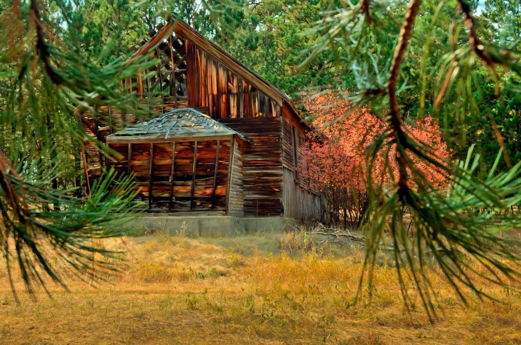 An abandoned house in Spokane, South Dakota.