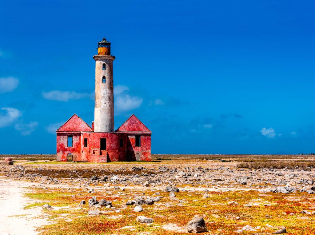 An abandoned lighthouse on Klein Curacao