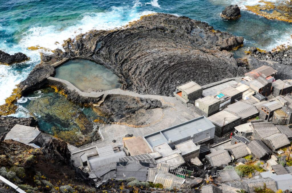 An aerial shot of El Hierro, Canary Islands, Spain