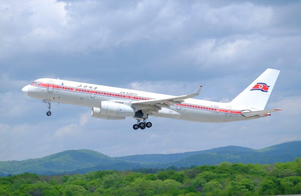 An Air Koryo plane from North Korea.