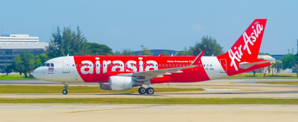 An AirAsia Thailand plane.