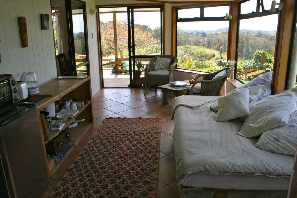 An Airbnb at the Gooseberry Hill Studio in Kerikeri.