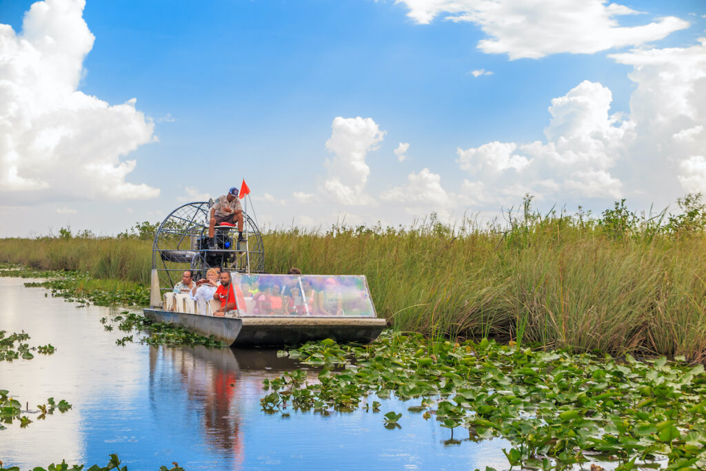 An airboat in Florida's Everglades National Park.