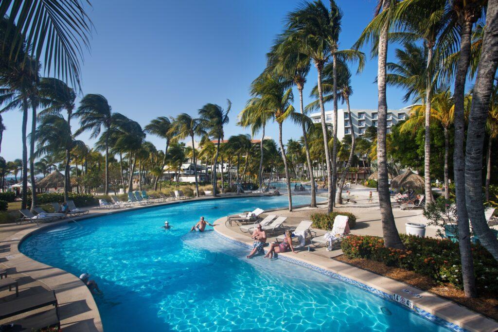 An all-inclusive resort in Aruba.