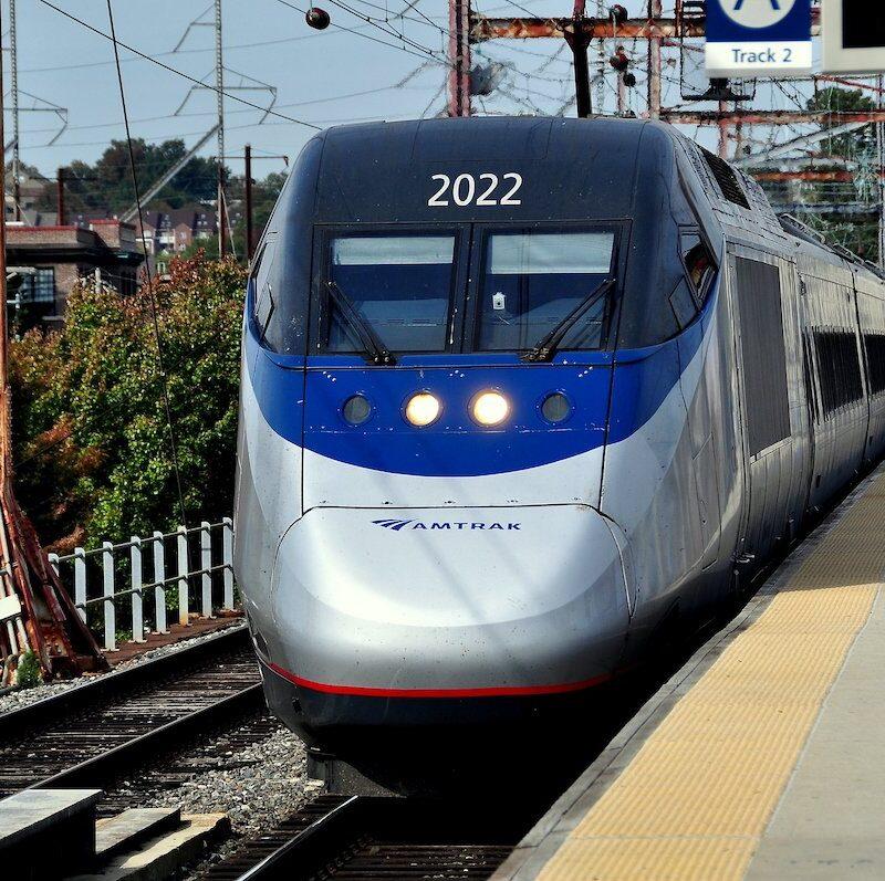 An Amtrak train in Delaware.