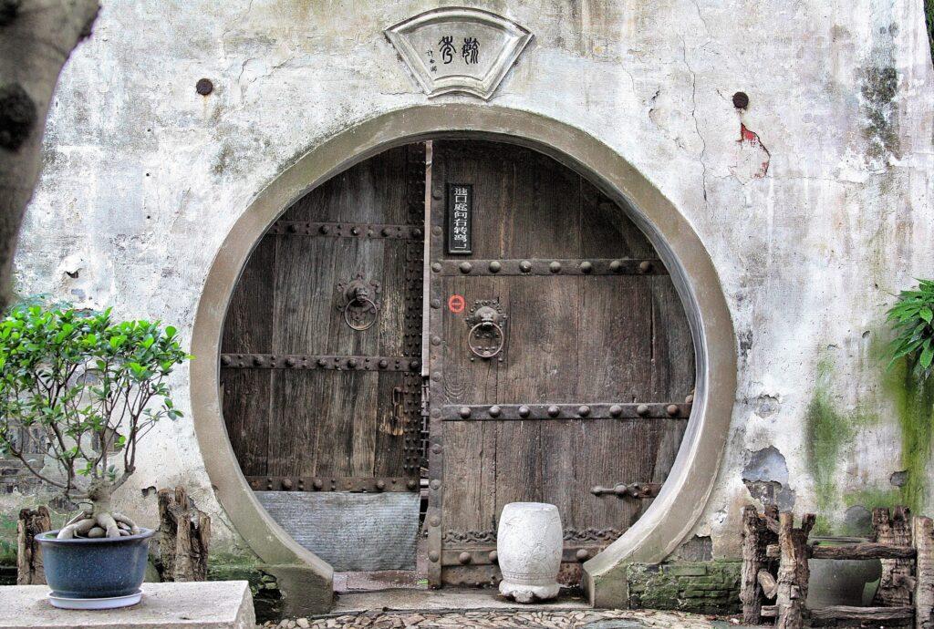 An ancient courtyard in Suzhou, China