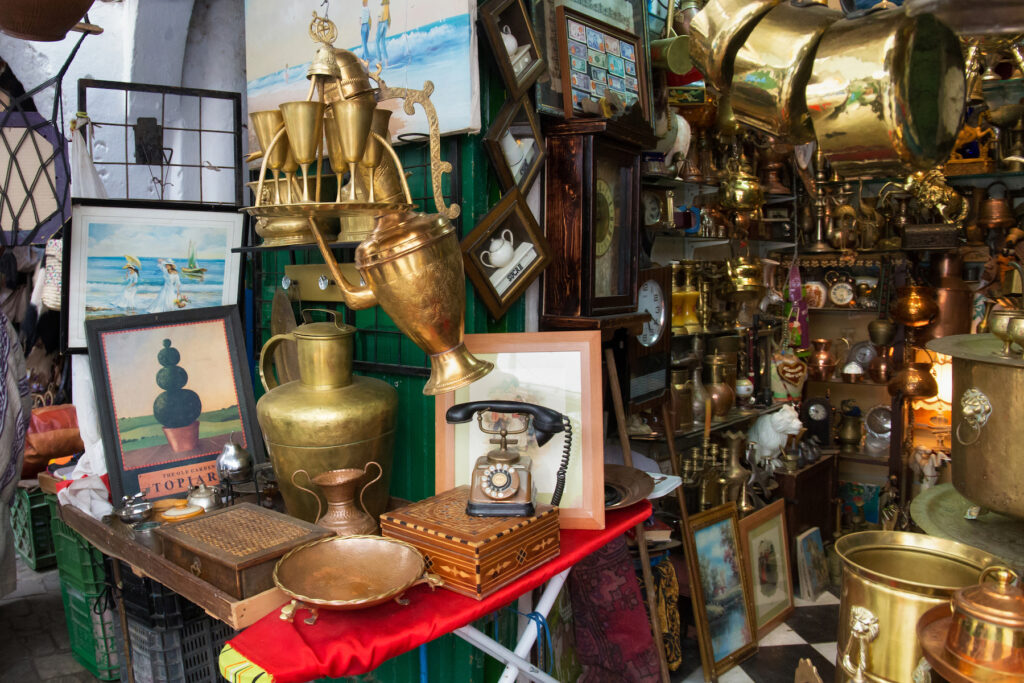 An antique shop in Morocco.