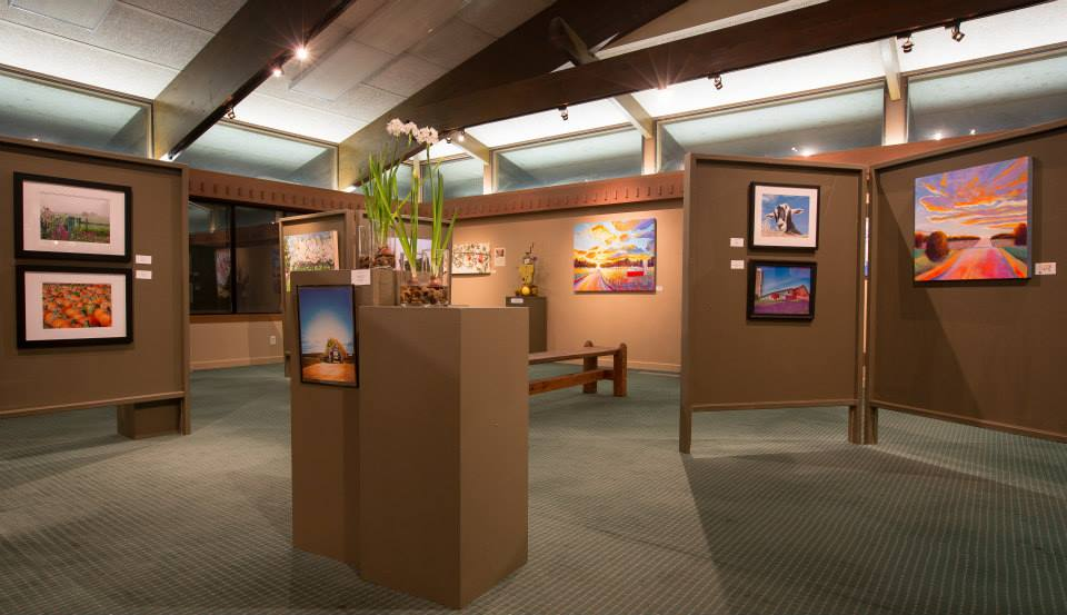 An art exhibit at the Charlevoix Circle of Arts.
