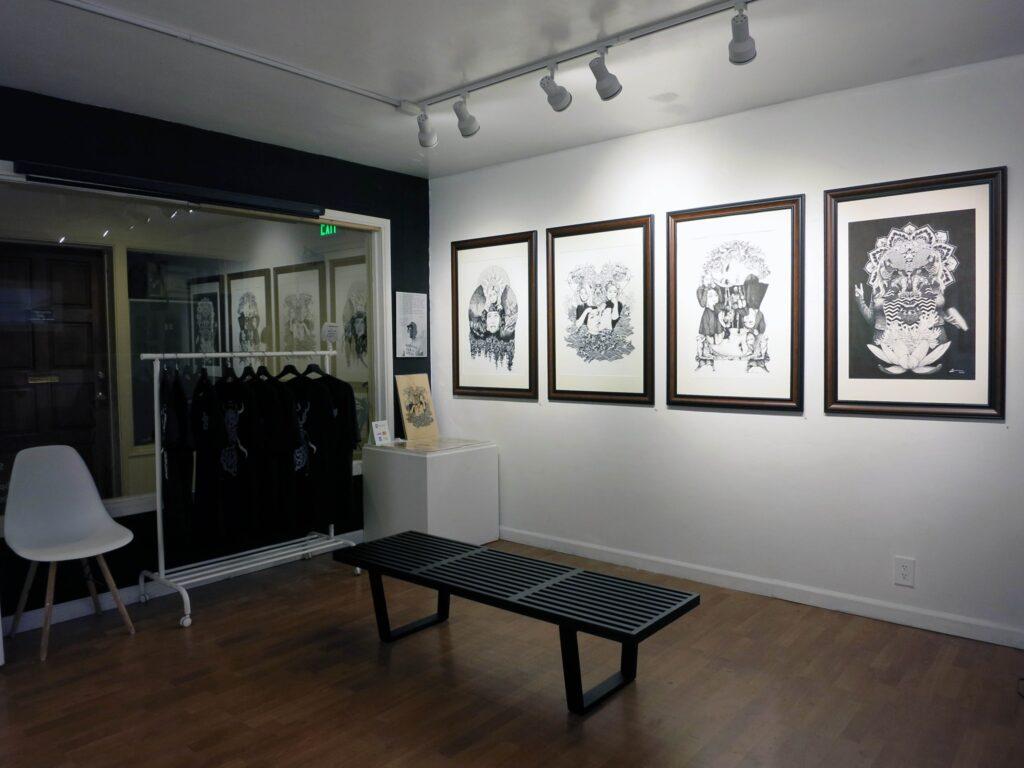 An art exhibit at the Thumbprint Gallery in La Jolla.