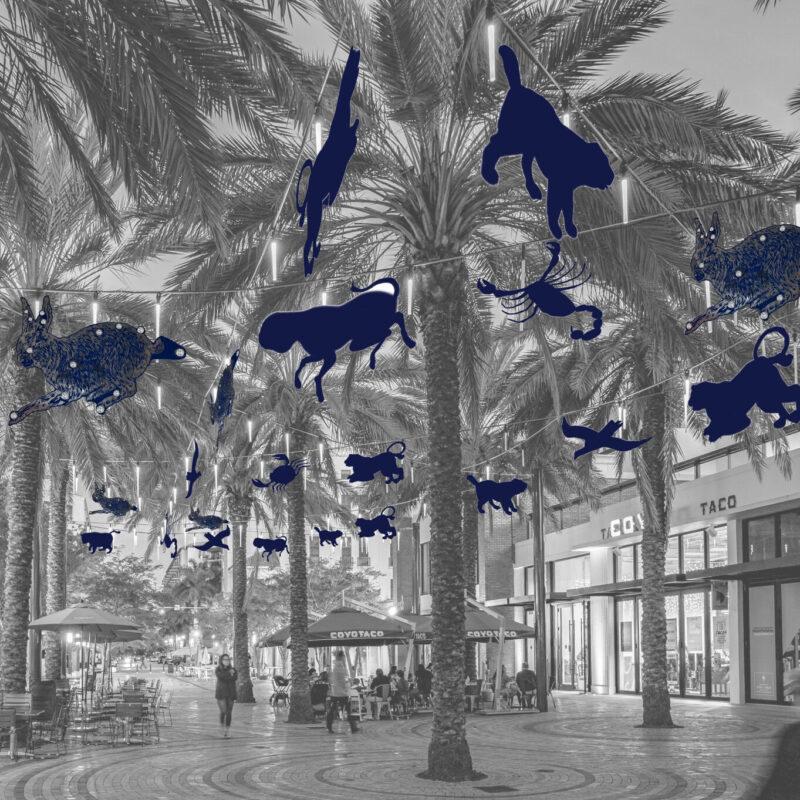 An art installation in Coral Gables, Florida.
