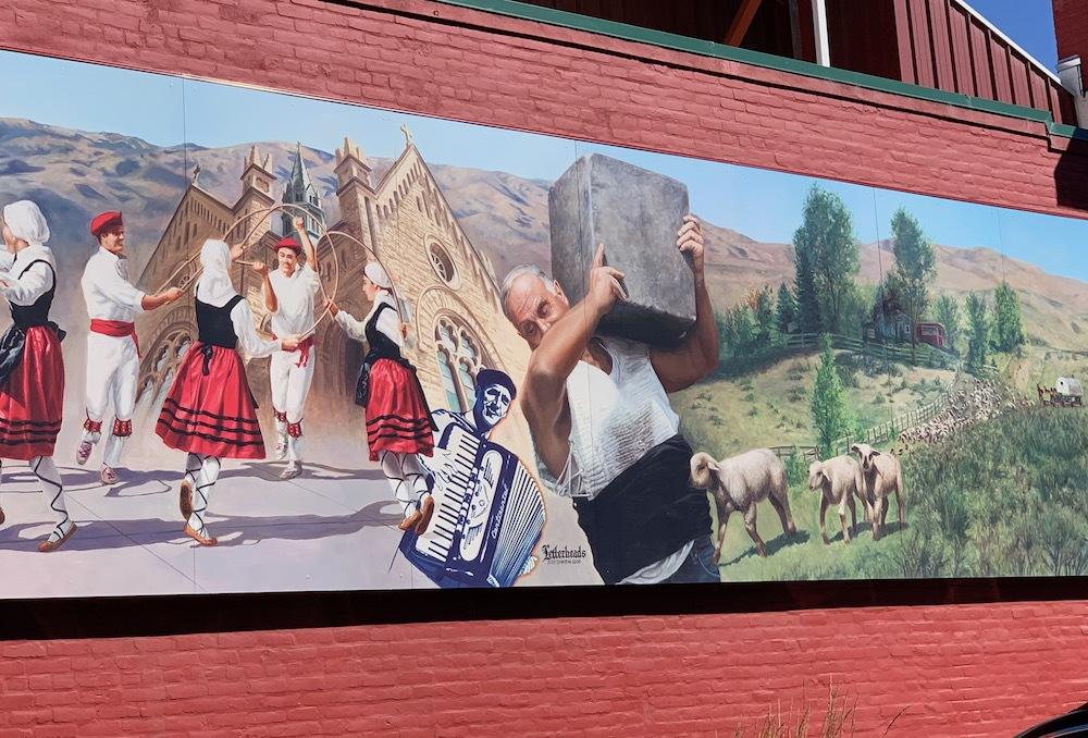 An art mural in the Basque Block.
