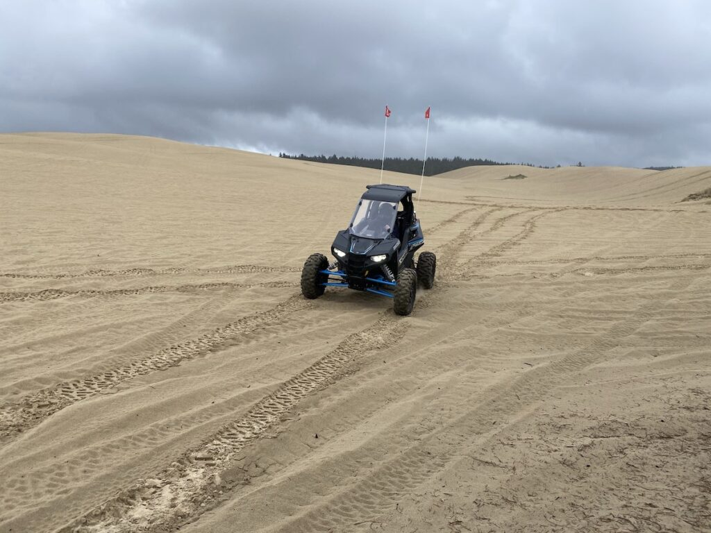 An ATV at the Oregon Dunes National Recreation Area.