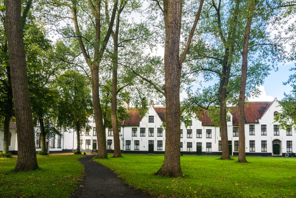 An authentic beguinage in Belgium.