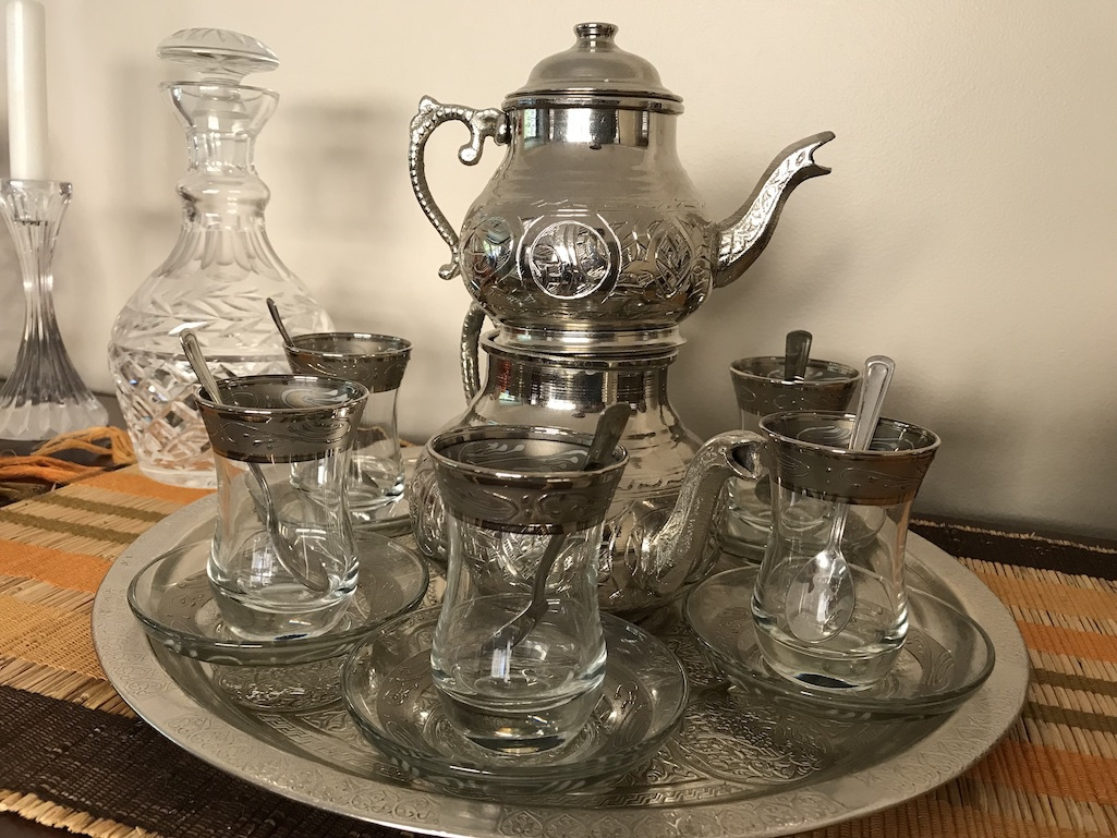 An authentic Turkish tea set from Istanbul.