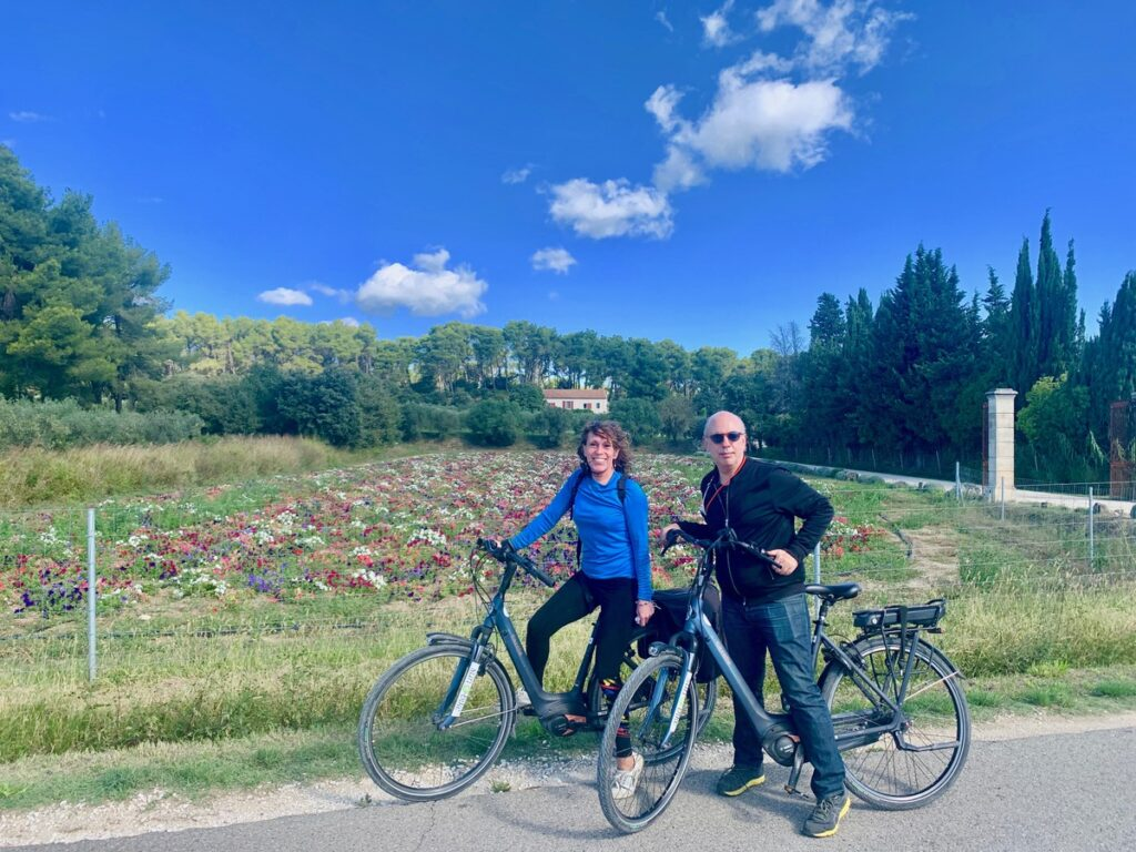 An electric bike tour in France.