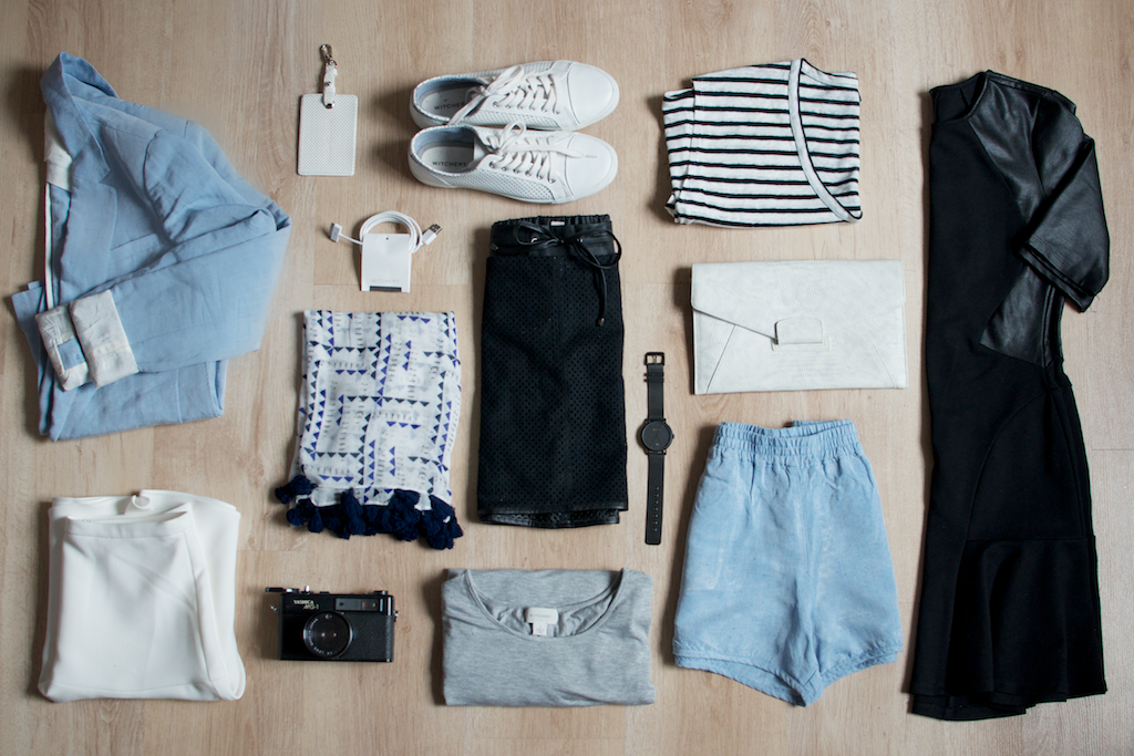 An example of capsule wardrobe items.