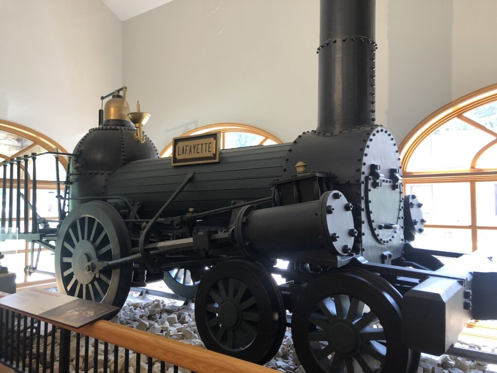 An exhibit at the Allegheny Portage Railroad in Pennsylvania.