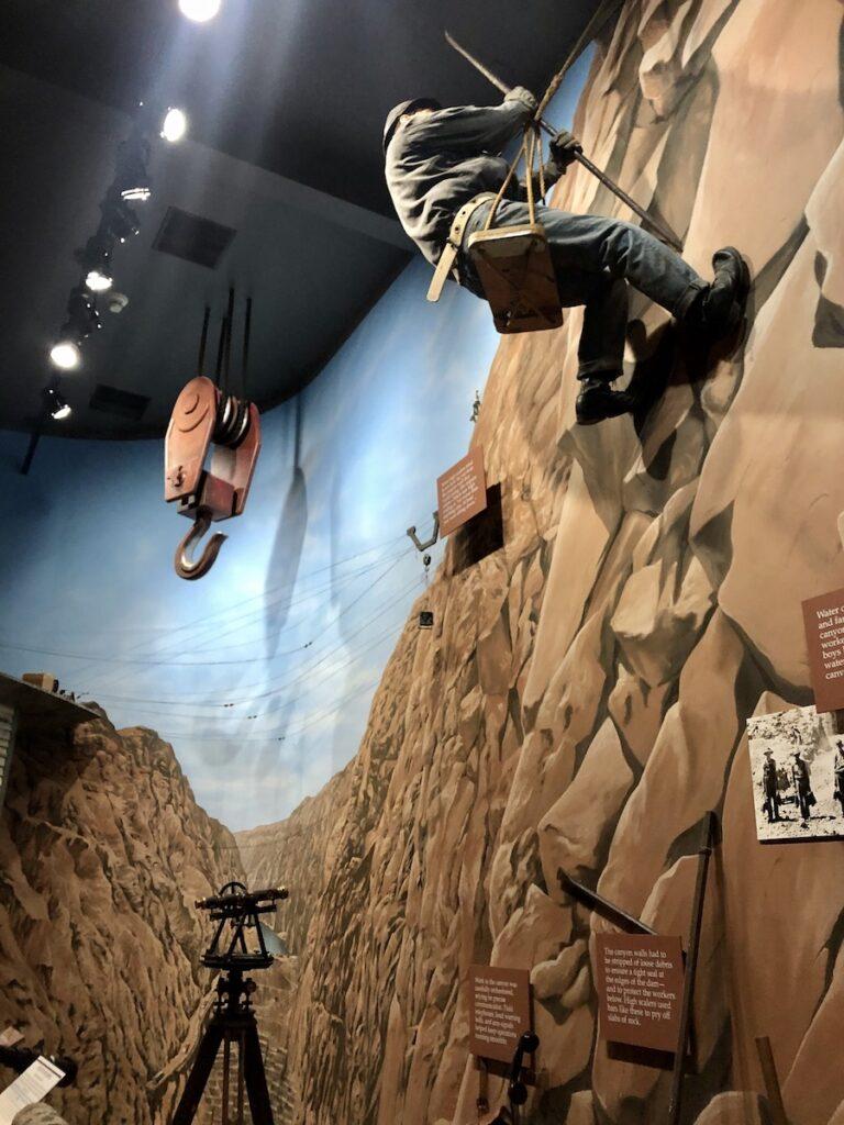 An exhibit at the Boulder Dam Museum.