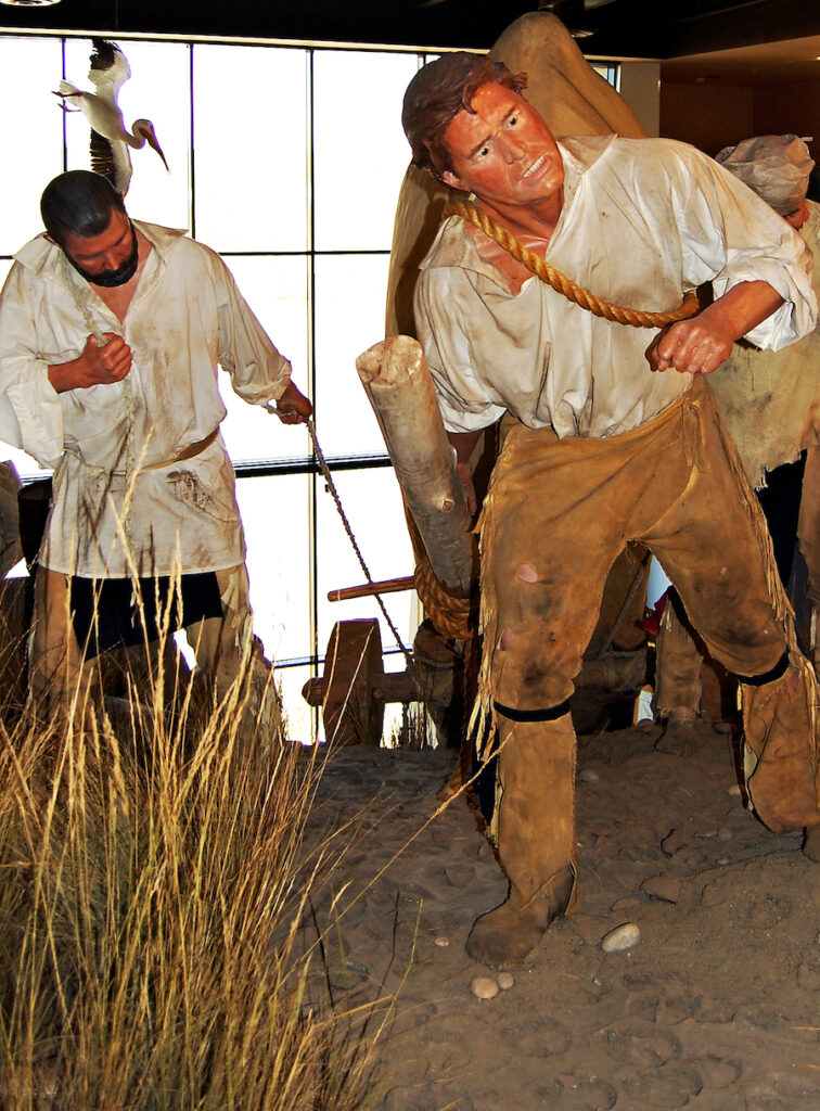 An exhibit at the Lewis And Clark Interpretive Center.