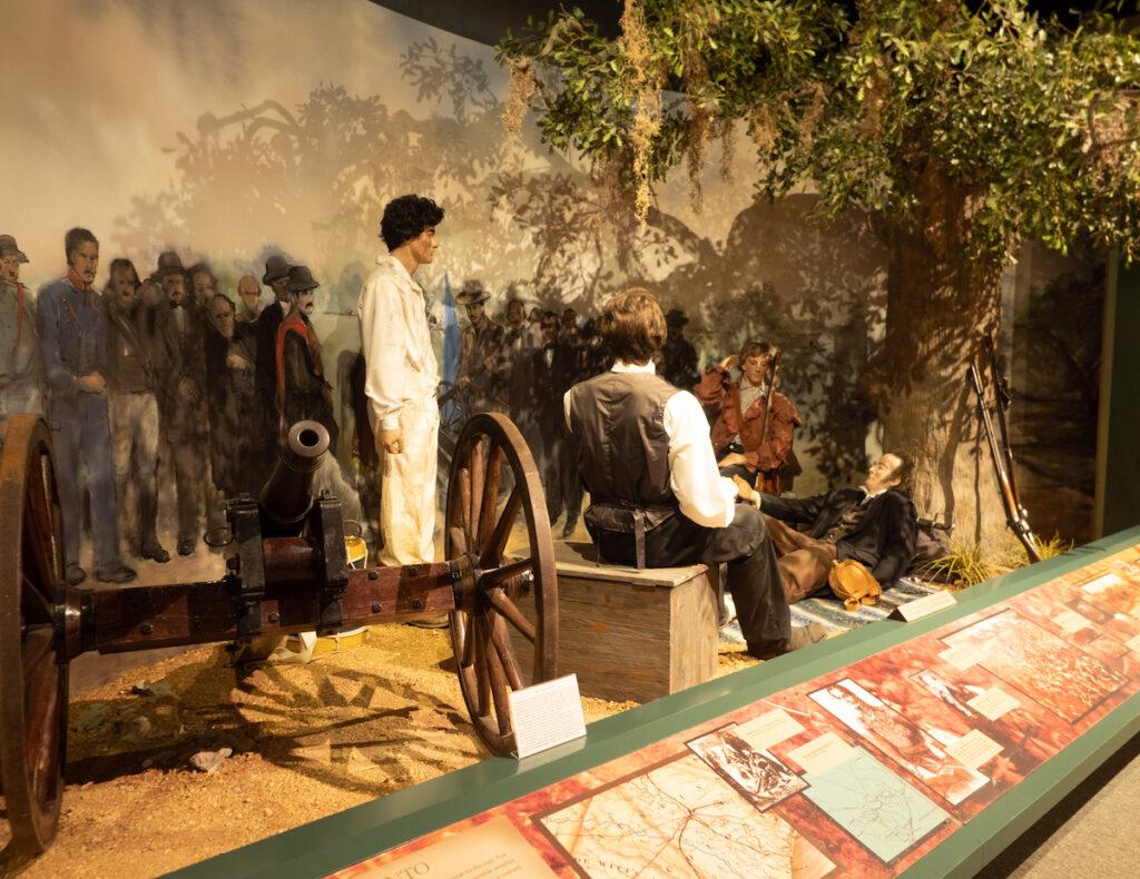 An exhibit at the Sam Houston Memorial Museum.