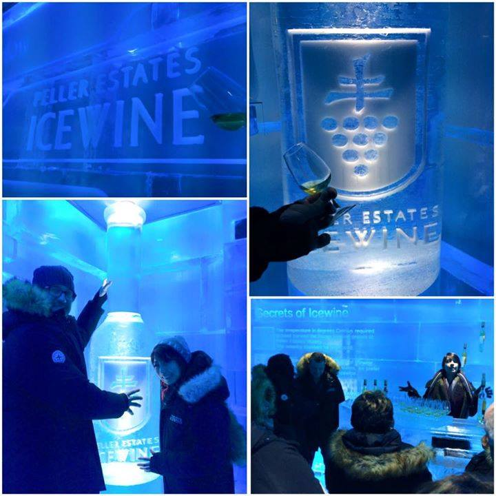 An ice wine tasting at the igloo at Peller Estates Winery.