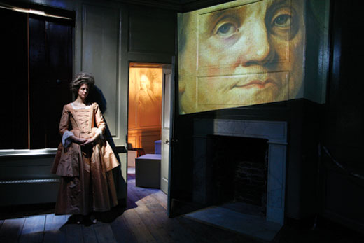 An interactive exhibit at the Ben Franklin House.