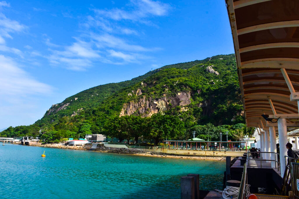An island coast in Hong Kong.