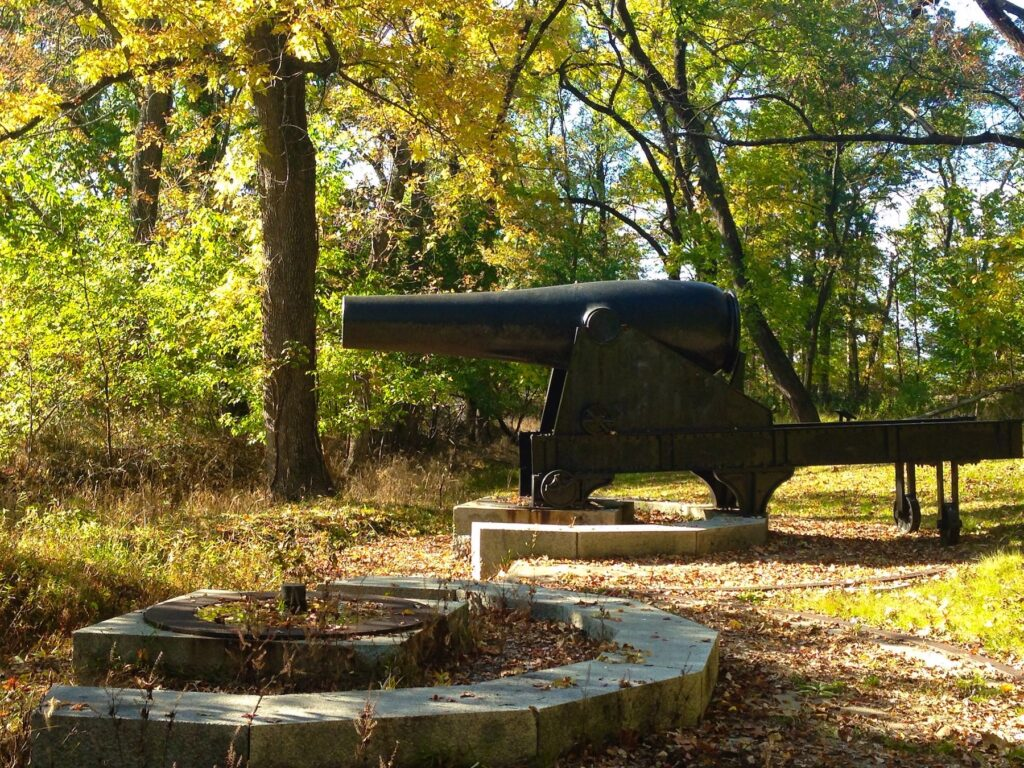 An old cannon at Fort Foote Park in Maryland.