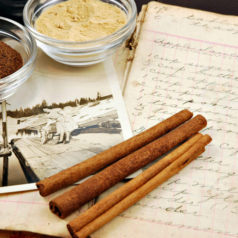 An old family recipe and a photograph.