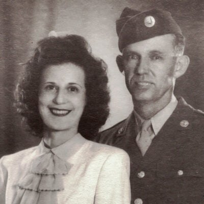An old photo of Leona and her husband, Felix.