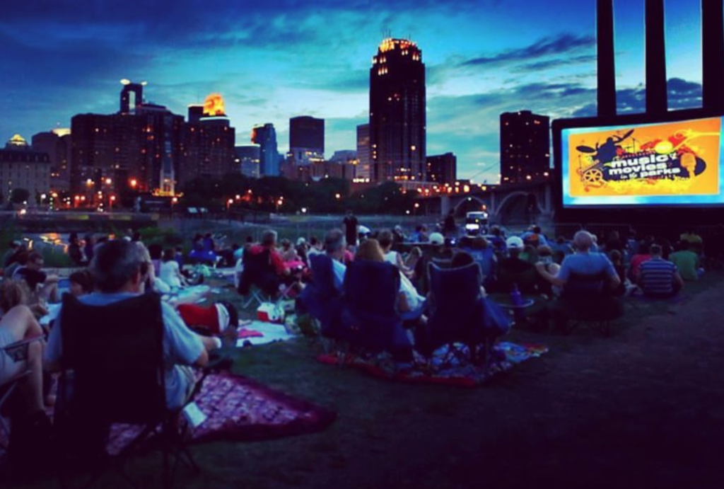 An outdoor movie at the Twin Cities Black Film Festival.