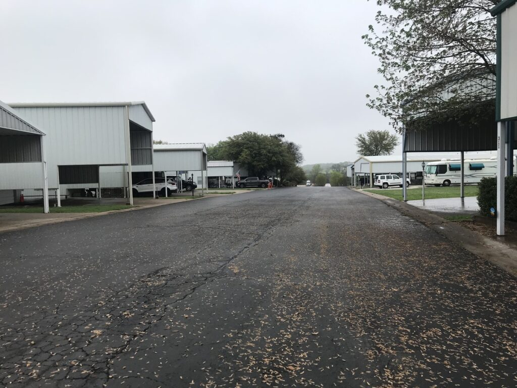 An RV park with no people in sight.
