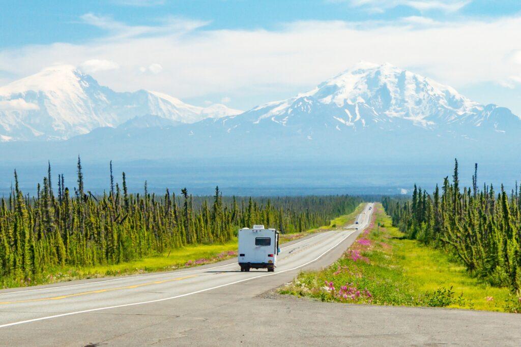 An RV road trip through Alaska.