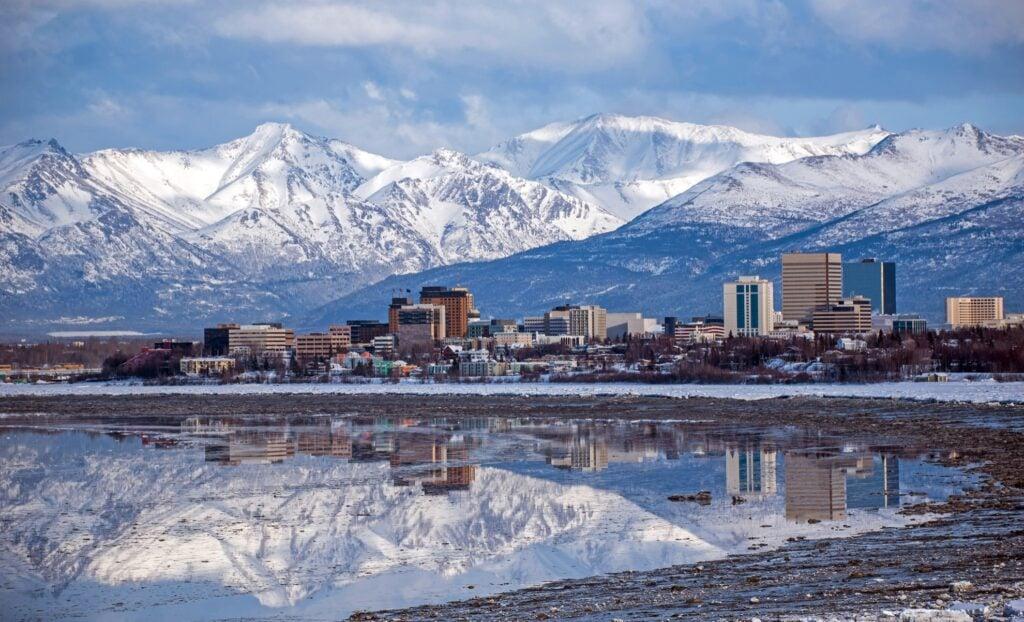Anchorage in Alaska.