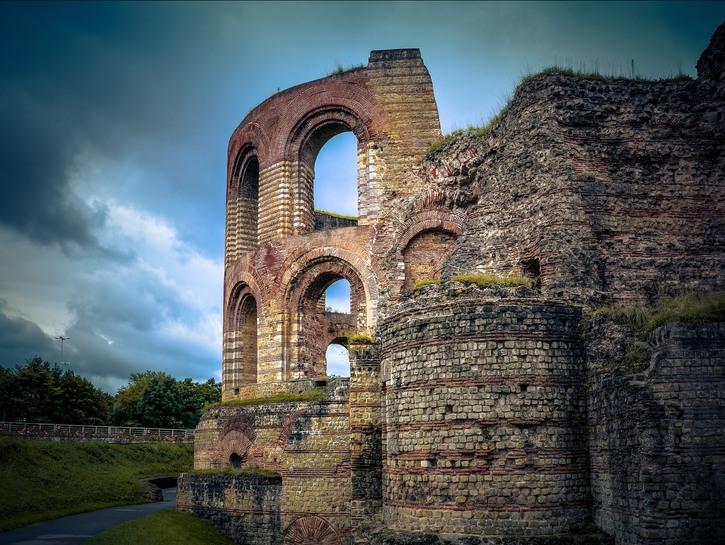 Ancien Roman ruins in Trier.