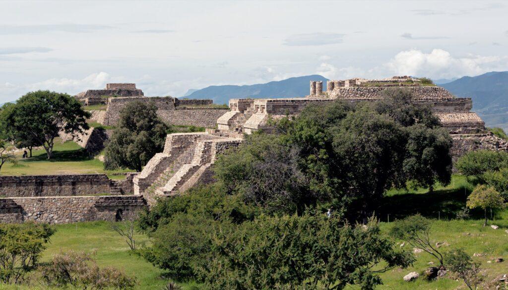 Ancient ruins at Monte Alban, Oaxaca.