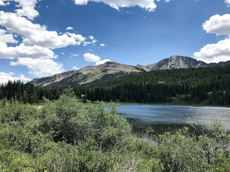 Andrews Lake, a stop along the Million Dollar Highway.