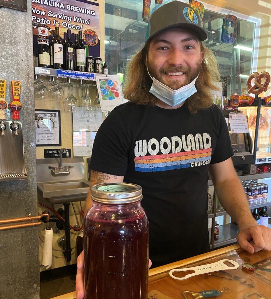 Andy Bartolic, head brewer at Catalina Brewing Company,