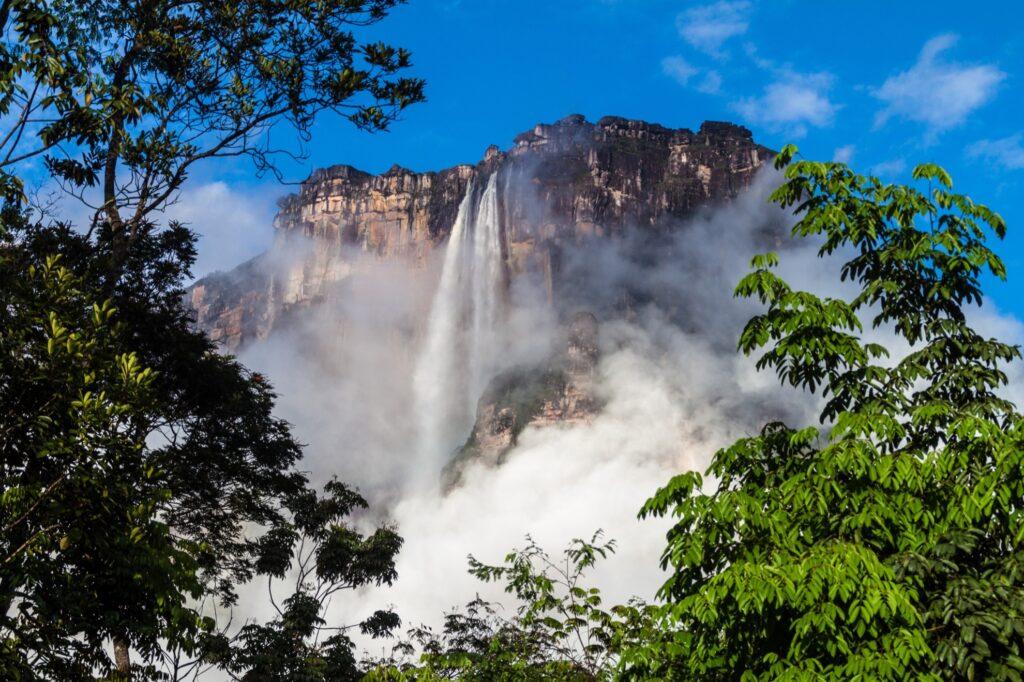 Angel Falls in Venezuela.