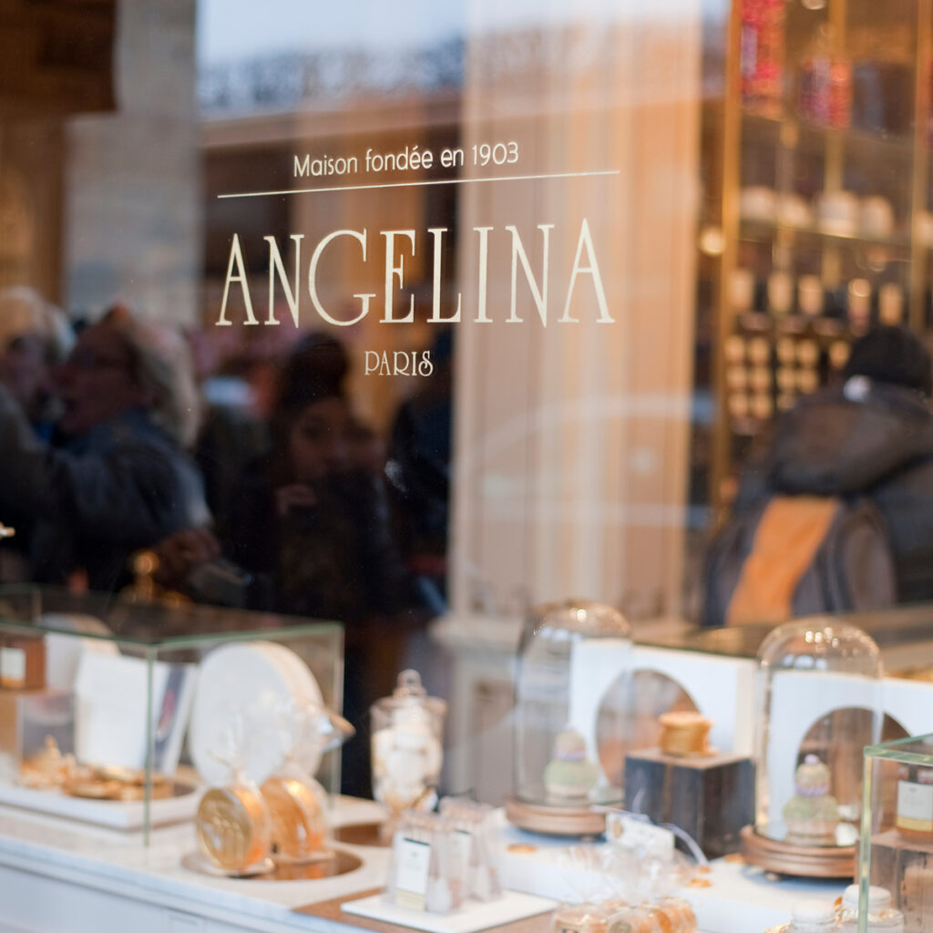 Angelina, a tea room in Paris, France.