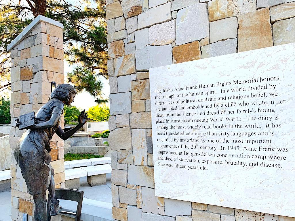 Anne Frank Human Rights Memorial, Boise, Idaho.