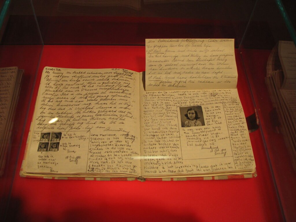 Anne Frank's Diary at the Anne Frank House.