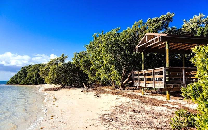 Anne's Beach in Islamorada, Florida.