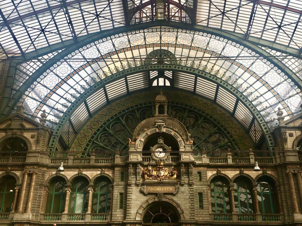 Antwerp Central station in Belgium.